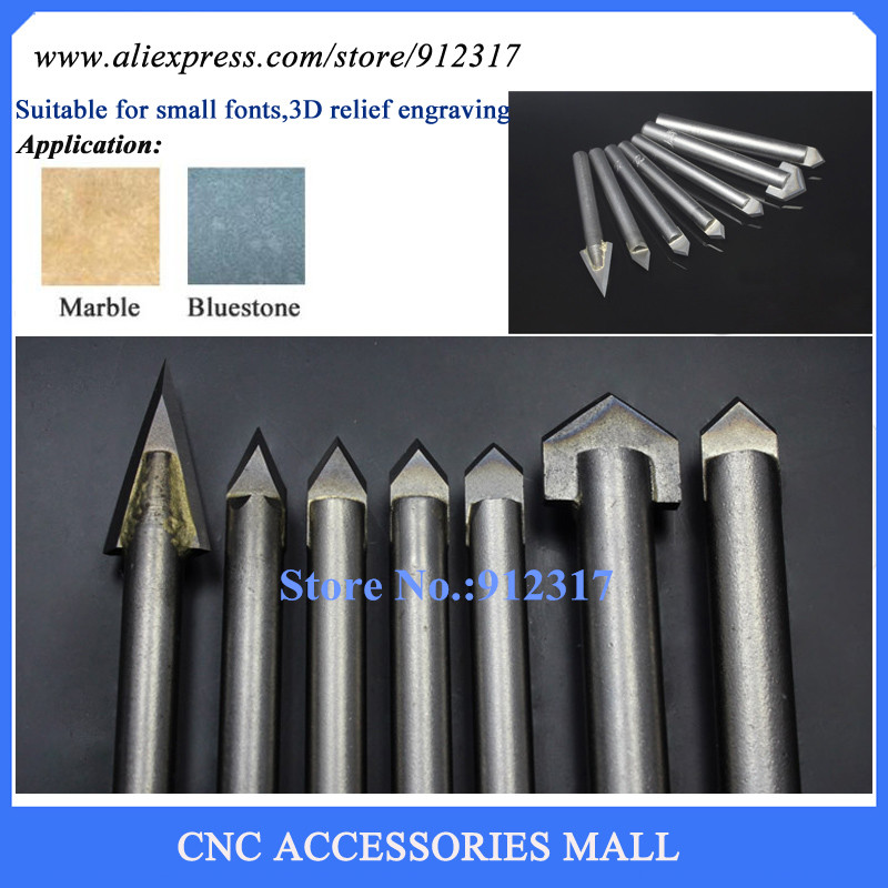 LOXA B series 7pcs/lot Alloy Router Bits CNC engraving cutter Stone carving tools цена и фото