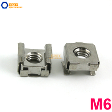 30 Pieces M6 Rack Mounting Cage Nut 201 Stainless Steel
