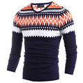 Fashion Winter Warm Pullovers Sweaters For Men High Quality Knitted Men Sweater Casual V-neck Patchwork Male Sweater H9002