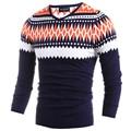 Moda Inverno Quente Pullovers Camisolas Para Homens de Alta Qualidade Dos Homens de Malha Camisola Ocasional Com Decote Em V Patchwork Camisola Masculino H9002