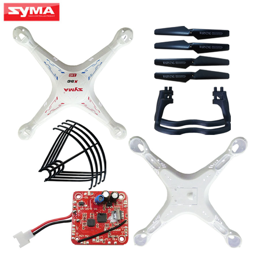 Shell For Syma X5C X5 Accessories RC Helicopter Main body + V6 PCB Circuit board + Propeller blades Quadcopter Spare Parts new arrival fq777 126c mini rc quadcopter spare parts circuit board for rc camera drone helicopter accessories