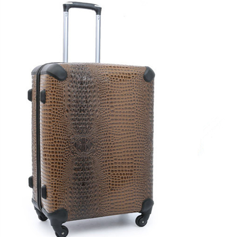 20 24 Inch Rolling Luggage Business Crocodile pattern  Travel Wheels Suitcases Bag Waterproof High Quality Trolley Case Large