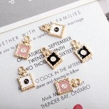 10pcs/lot Oil Drop Perfume Bottle Charms Metal Pendants Earring Enamel Fashion Jewelry Accessories YZ248