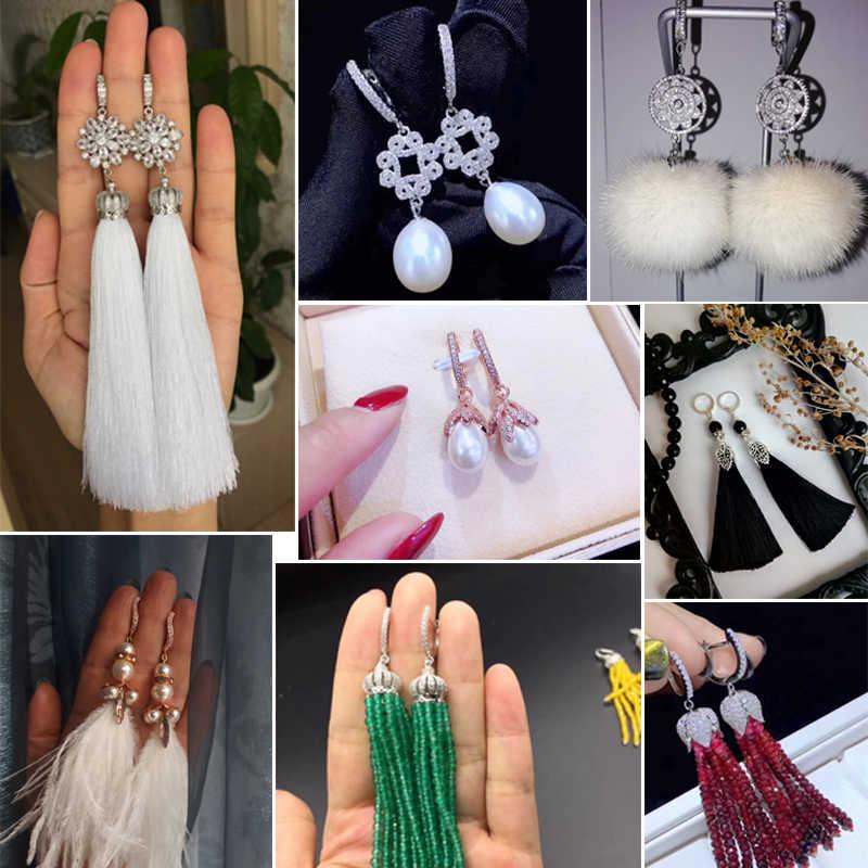 Baru 6 Gaya Anting-Anting Kait Aksesoris untuk Perhiasan Anting-Anting Membuat Diy Handmade Wanita Tassle Crystal Anting-Anting Hadiah Grosir