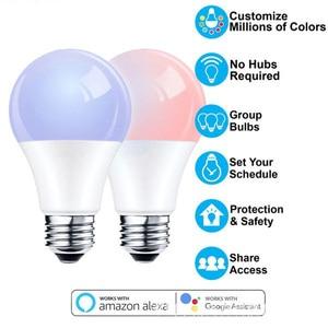 Image 1 - Смарт товары для дома Wifi смарт трекер лампа для amazon alexa google home Голосовое управление Светодиодная лампа RGBW интеллектуальный пульт дистанционного управления