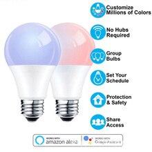 똑똑한 가정 제품 아마존 alexa google 가정 음성 통제 rgbw led 전구 지적인 원격 제어를 위한 wifi 똑똑한 미터 전구