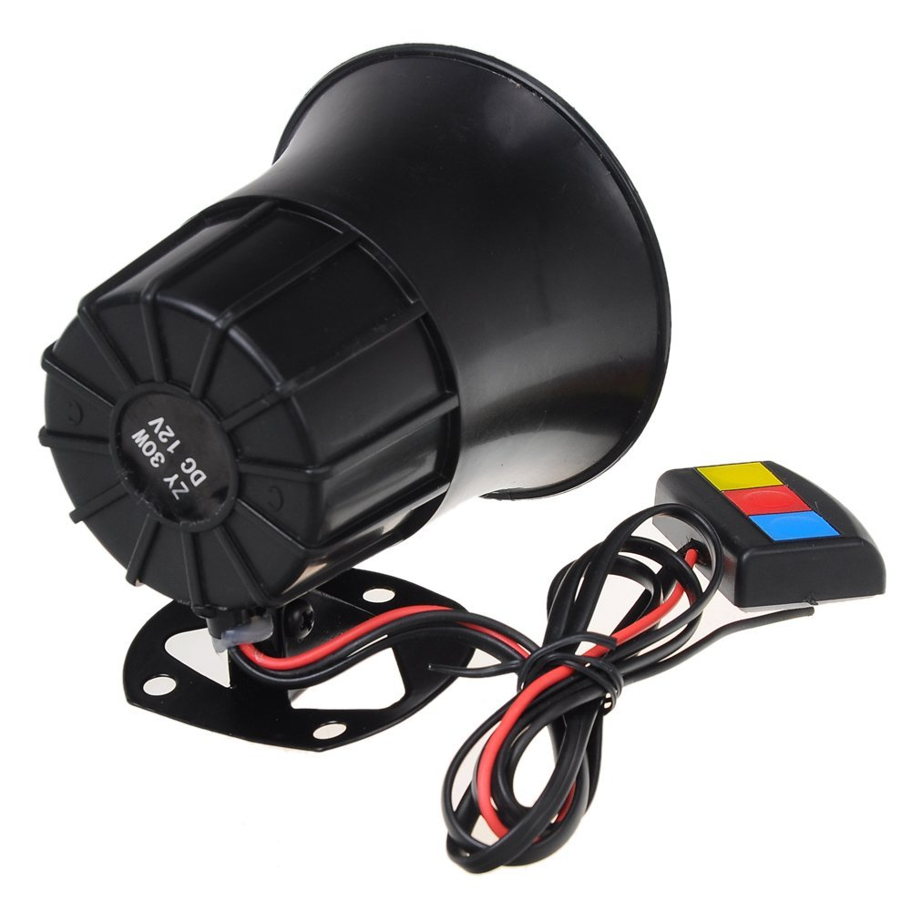 EDFY Motorcycle Car Van Vehicle Loud Siren Security Horn 12V with 3 Sounds