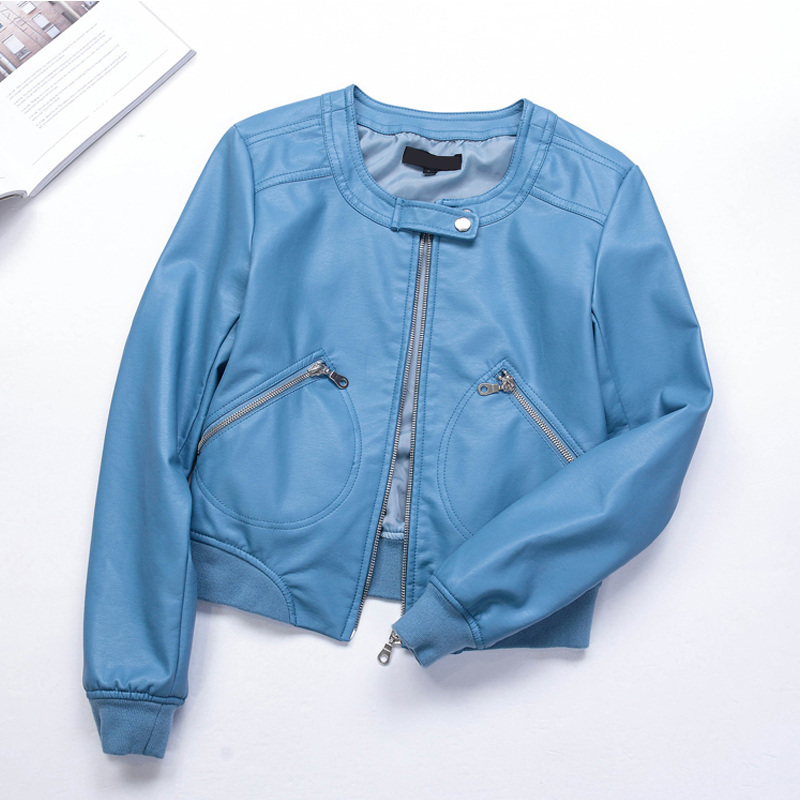 Lusumily Plus Size 5XL Pu   Leather   Jacket Women Faux   Leather   Coat Casual Zipper Motorcycle Jackets Female Short O-neck Outerwear