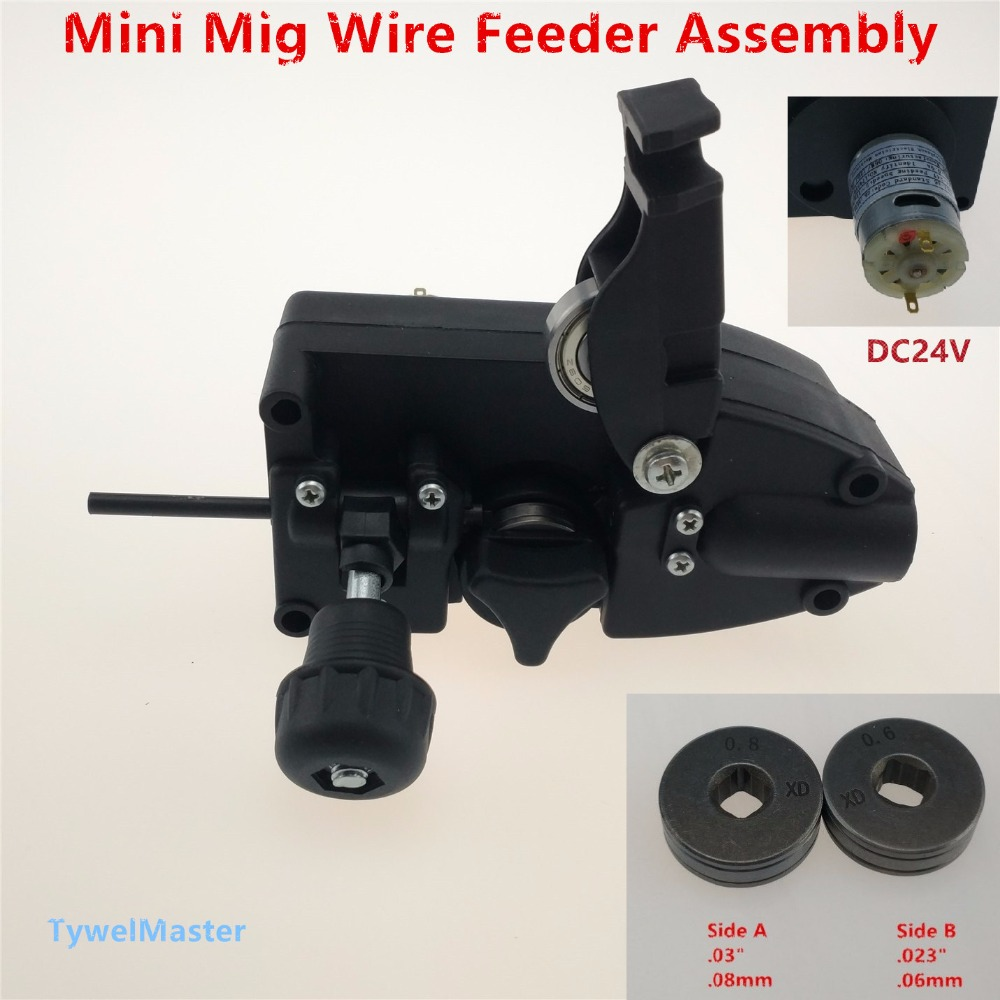 0.6/0.8mm SSJ-16 24V DC Light Duty MIG Wire Feeder Assembly Wire Feed Machine For Mig Welder Welding Torch mig wire feeder motor 76zy02a dc24v 18m min for mig welding machine