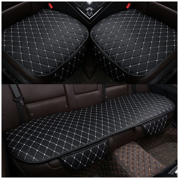 1 sets PU Leather Car Seat Cover Pad for Auto Seat Cushion Protection Pad Mat