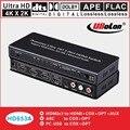 HDMI экстрактор конвертер сплиттер адаптер коммутатор 4 к X 2 к HDMI 3X1 к HDMI + оптический + + + Coxial + L/R SPDIF DTS/AC3 5,1 аудио ARC 3D