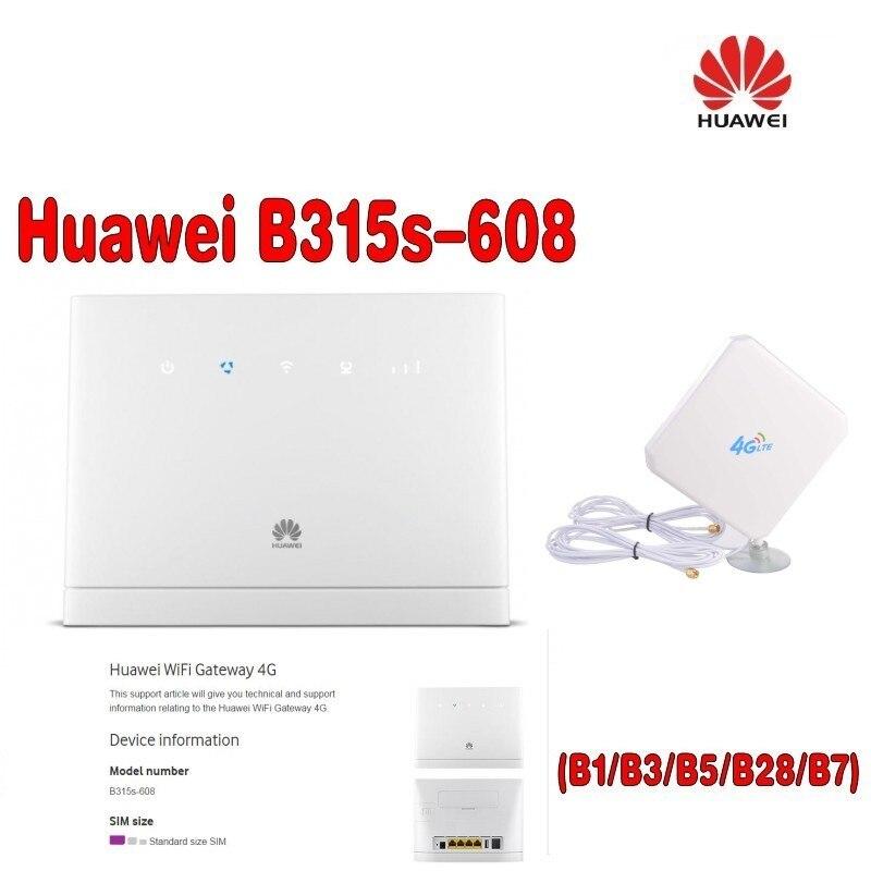 (+ 4g Antenne Sma 35dbi 4g Antenne) Entsperrt Huawei B315 B315s-608 Lte Fdd 700/850/1800/2100/2600 Mhz Exquisite Handwerkskunst;