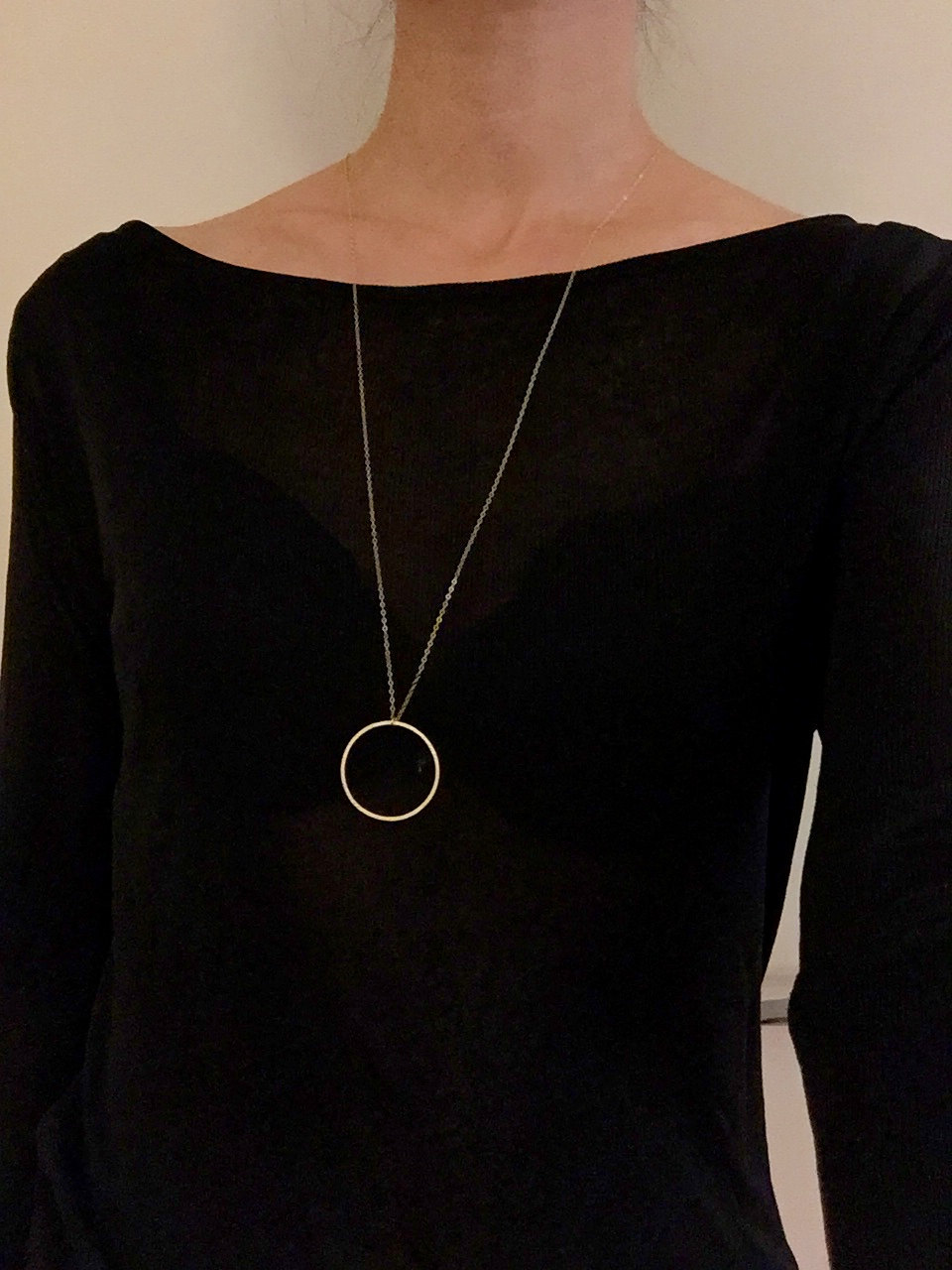 Statement necklace Circle pendant necklace Long necklace jewelry XL153 3