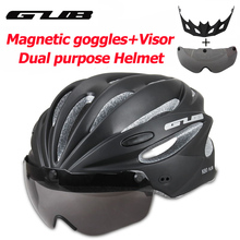Bicycle Helmet Integrally Molded MTB Road racing Bike Safe Cap Cycling With Magnet Adsorption Goggles GUB K80 PLUS