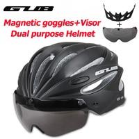Fahrrad Helm Angeformten MTB Road racing Bike Sicher Kappe Radfahren Helm Mit Magnet Adsorption Brille GUB K80 PLUS