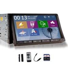 """Doble 2 Din En El Tablero Estéreo Reproductor de DVD GPS 7 """"Digital Con Pantalla Táctil FM AM Radio Control Del Volante Del Coche 1080 P de Vídeo USB SD"""