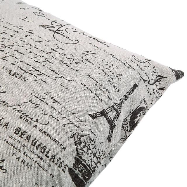 100% Brand New  Paris Eiffel Tower Letter Vintage Home Decorative Pillow
