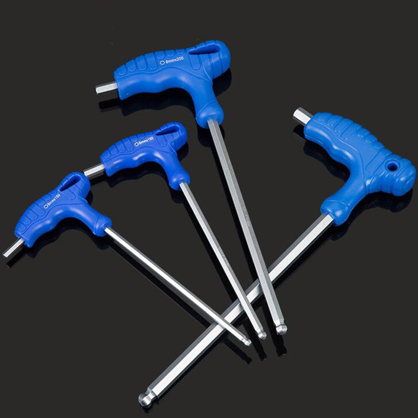 1pc Wrench Long Arm Star <font><b>Torx</b></font> Allen Hex Key Wrench Spanner Hexagon <font><b>T</b></font> Type Wrenches Bicycle Repair Tools image