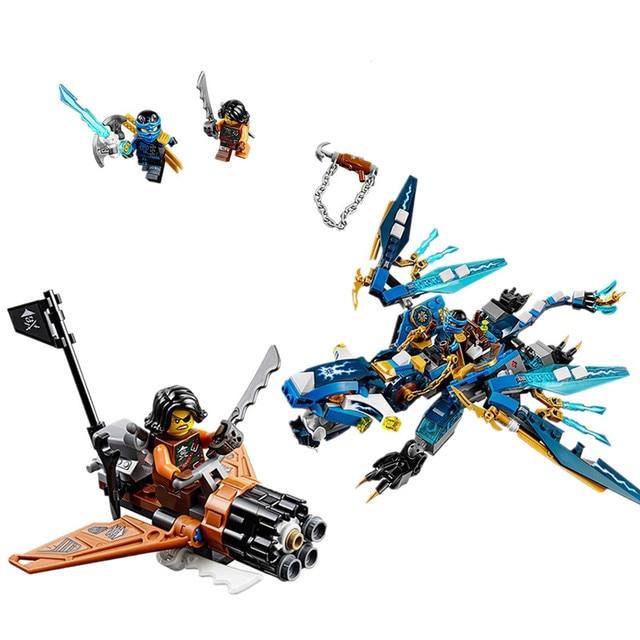 Бела 10446 Phantom ЛЕПИН Гром Мечник Молния Dragon Jay Строительные Блоки Кирпичи Игрушки для Детей