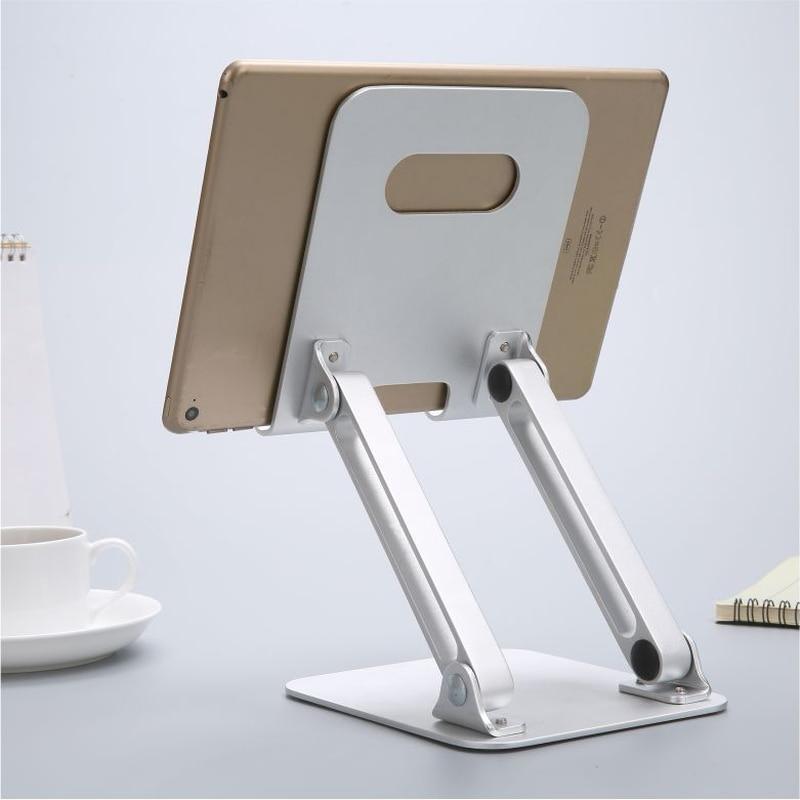 Aluminum Alloy Support Tablette Holder Dock Folding Raising Arm Tablet Holder for iPad 2018 Mini 1