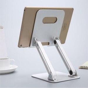 Soporte de aleación de aluminio Tablette soporte Dock plegable brazo de elevación Tablet titular para iPad 2018 Mini 1 2 3 4 soporte para iPad Pro 12,9