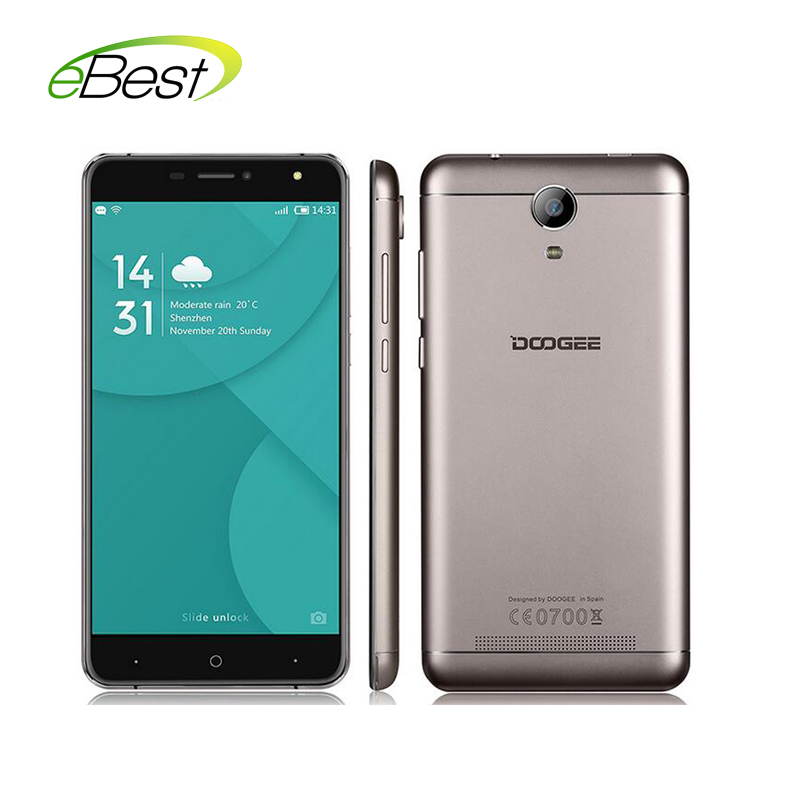 "Цена за Оригинал doogee x7 pro смартфон 6.0 ""android 6.0 mt6737 quad ядро Мобильного Телефона 2 ГБ RAM 16 ГБ ROM Отпечатков Пальцев 4 Г Сотовый телефон"