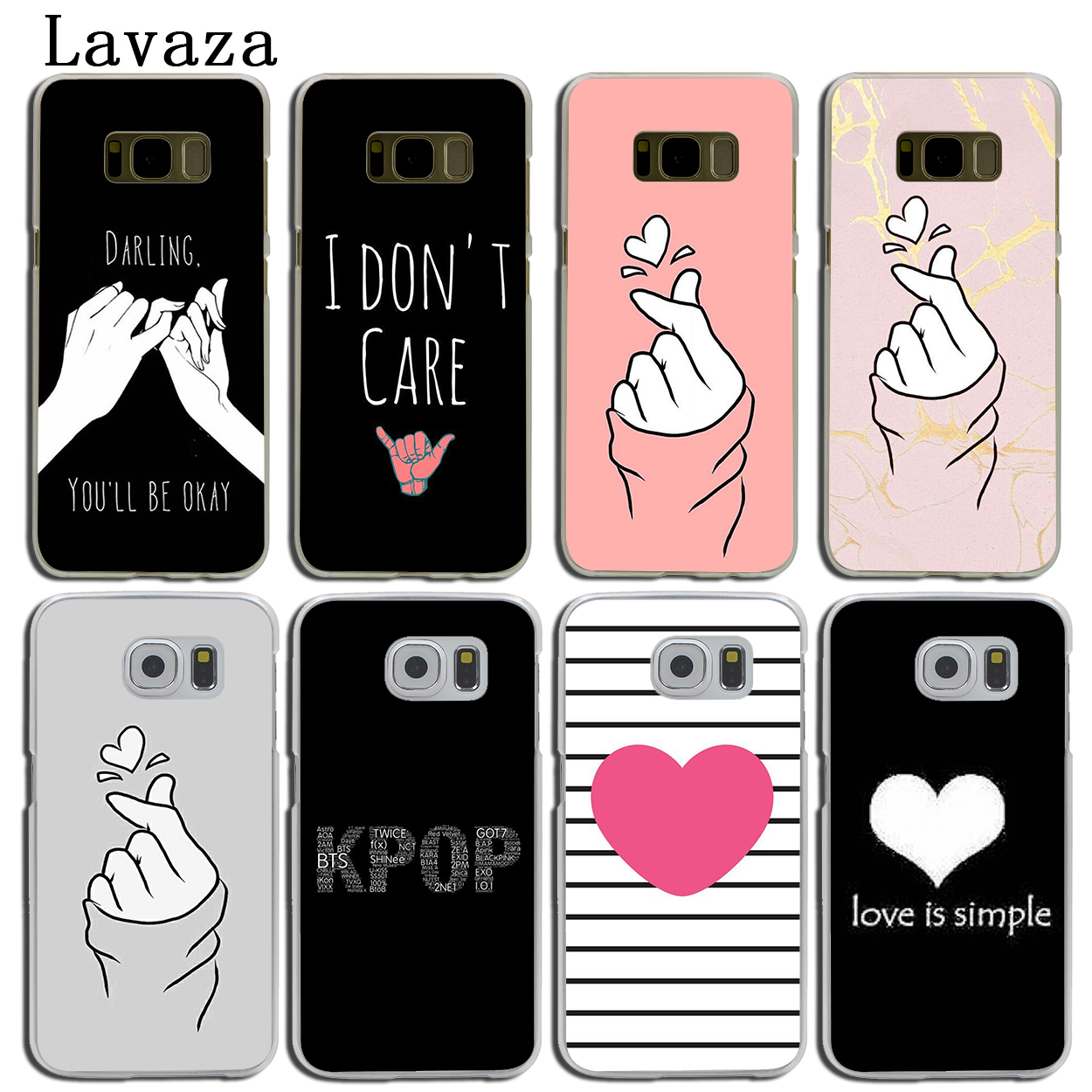 I Love You On The Finger Kpop Heart Phone Case For Samsung Galaxy