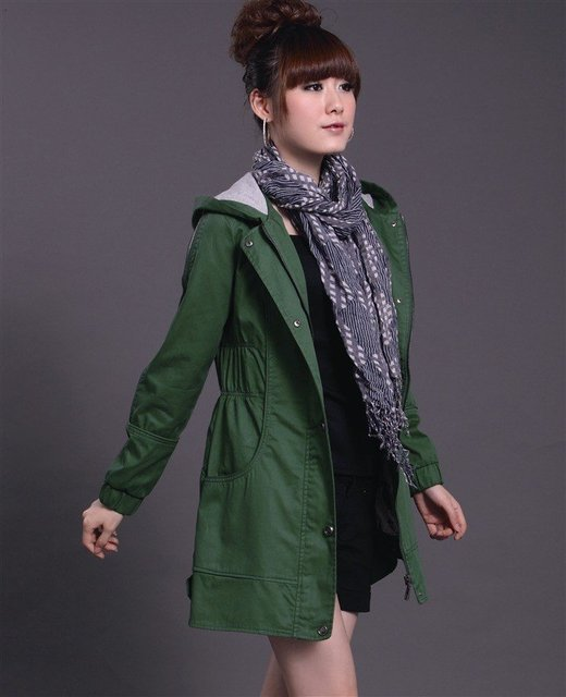 2011 spring and autumn outfit new big yards women's clothing cultivate one's morality han edition coat female dust coat  TC01