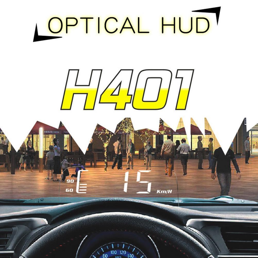 3.7 Inch Universal OBDII Car High Brightness Automatic Light Sensitive Folding Head Up Display LED driving HUD H401 DC12V OBD2 a900 3 5 inch car hud head up display obdii interface