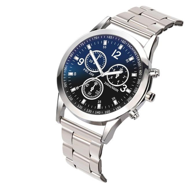 Hombre de negocios hombre reloj 2018 clásico de moda de cuarzo de acero inoxidable reloj de pulsera Relojes regalo para hombres reloj relogio masculino