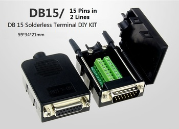 Solderless DB15 Pin in 2 Lines Terminals KIT