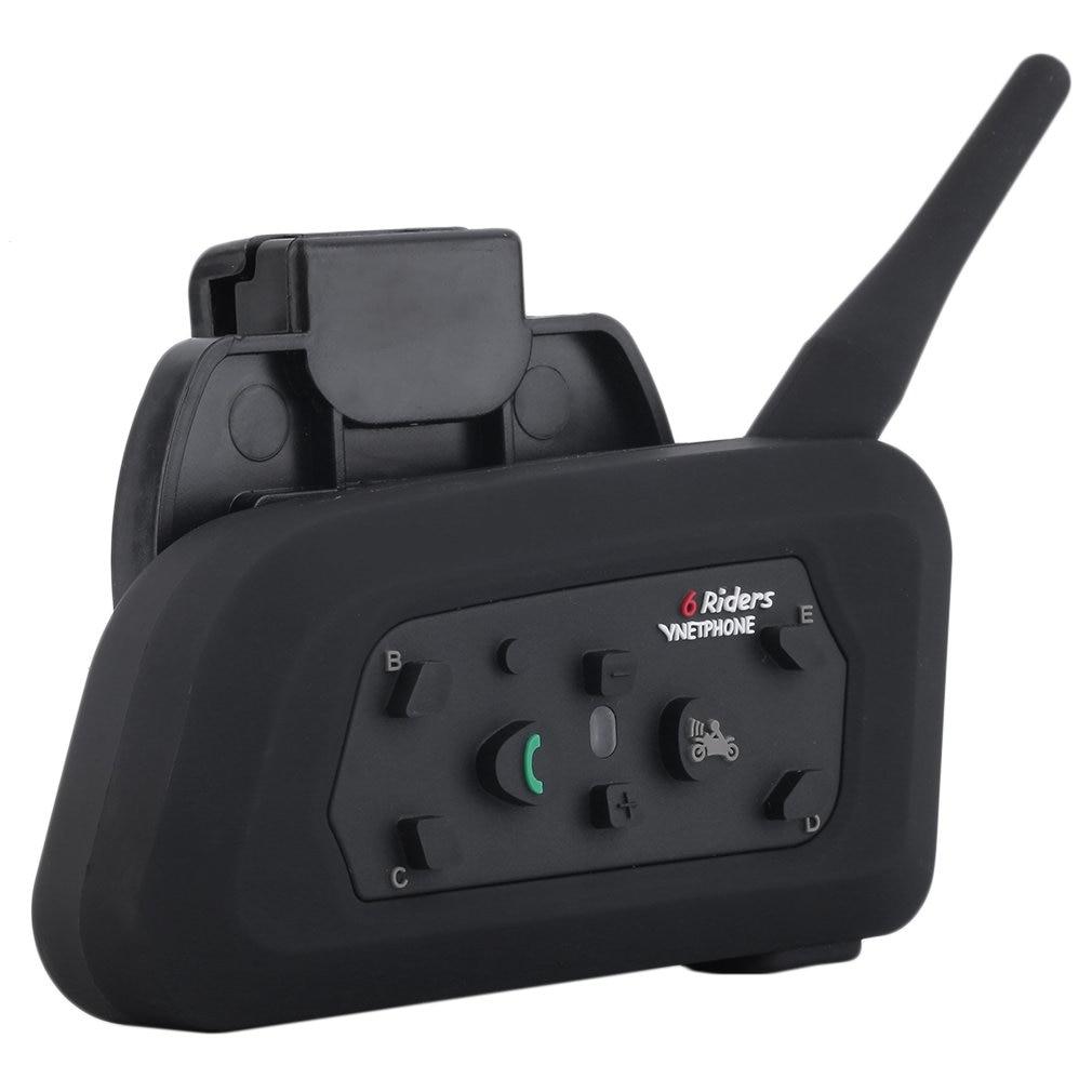 EU Plug V6 Helmet Intercom 6 Riders 1200M Motorcycle Bluetooth Intercom Headset Walkie Talkie Helmet BT Interphone/Vnetphone
