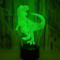 Neue Dinosaurier 3d Tisch Lampe Bunte Touch Stereovision Fühlen 3d Führte Geschenk Lampe Für kinder Geburtstag Usb Led Nacht Licht