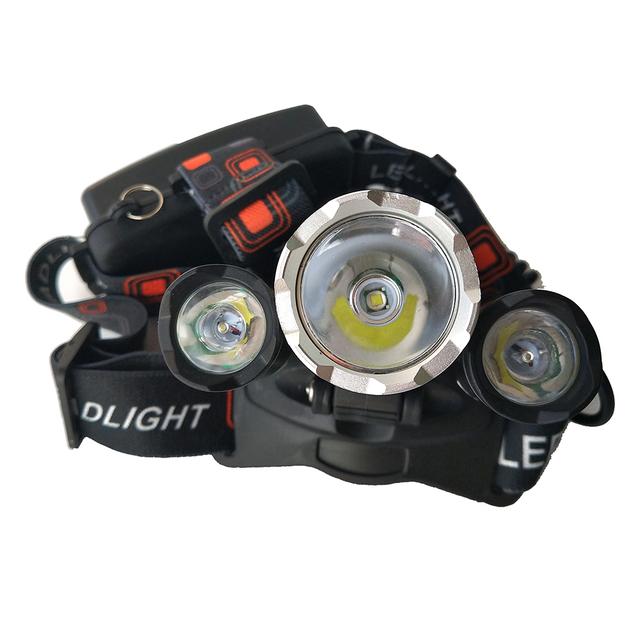 LED Headlight 12000 Lumen Chips 3x XM-L T6 LED  Head Lamp Flashlight Lanterna 4 Switch Model Led Headlamp Choose For Camping