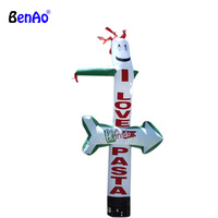 AD258 Custom made inflatable sky man with logo printing, inflatable air dancer for game promotion with arrow for car