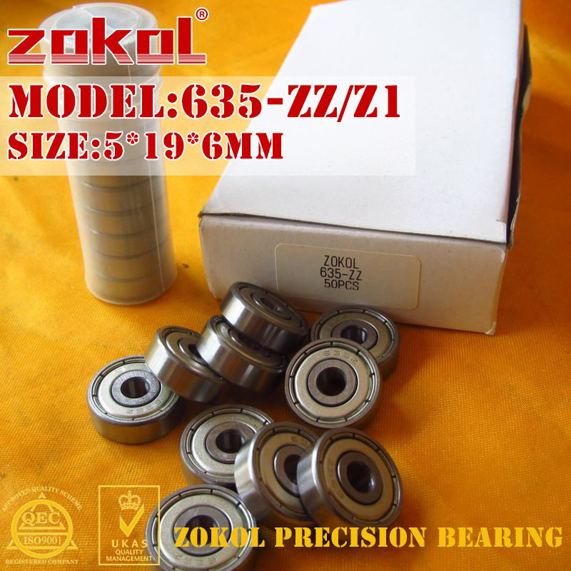 ZOKOL 635 ZZ Z Z1 Bearing 635ZZ Z1 80035 Z1 635zz Miniature Deep Groove Ball Bearing 5*19*6mm