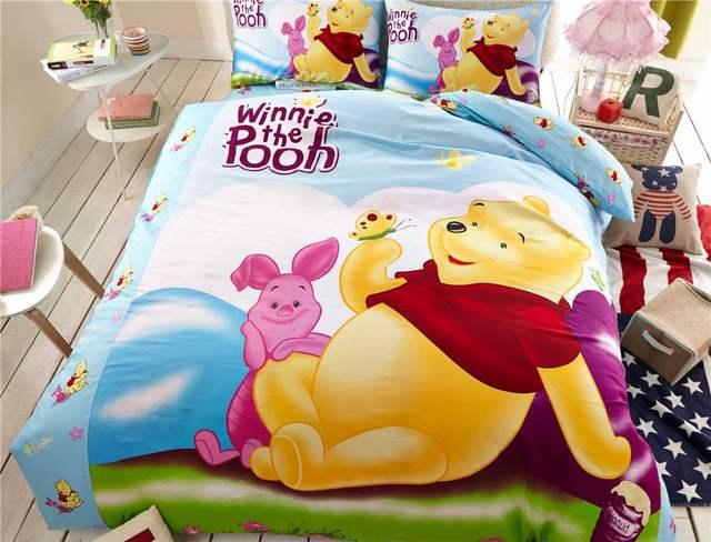 e0113714fe placeholder Winnie the Pooh Leitão Meninas de Cama Conjuntos Capa de  Edredão da Folha de Cama de
