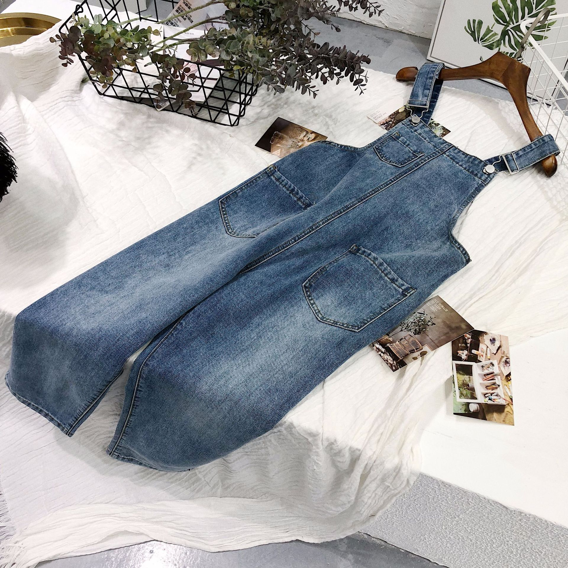 Mezclilla Mameluco Elástico Overoles Pantalones De Casual Nuevas Las Denim Preppy Suelta Sexy 1 Estilo Simple Mujeres 10nwqaC
