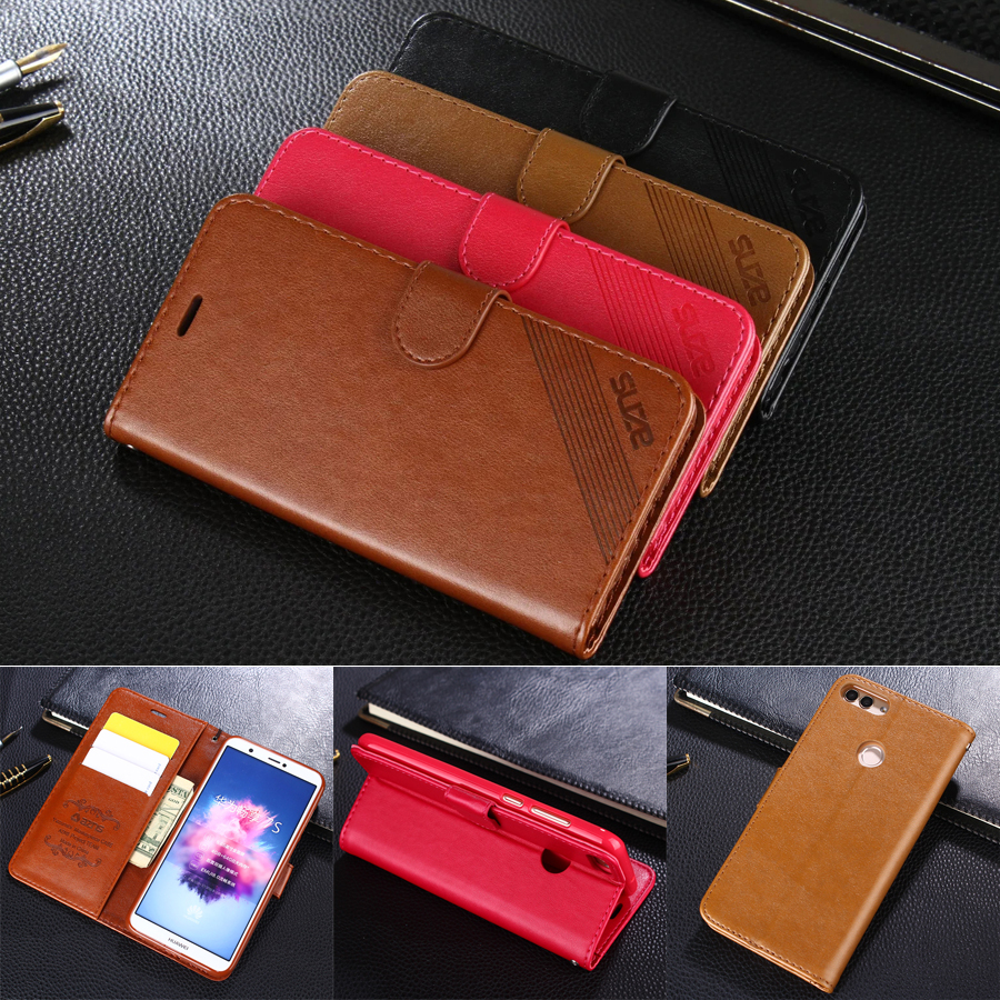 AZNS Case For Huawei Enjoy 7S 5.65 Luxury Wallet Leather Case Stand Flip Card Hold Phone Cover Bags For Huawei Enjoy 7S