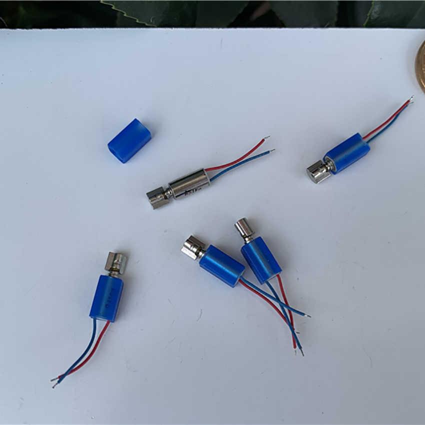 4*8mm Micro sans noyau moteur 3 V-4.2 V DC moteur de Vibration avec manchon en caoutchouc téléphone portable précision vibrateur longueur de fil 15mm