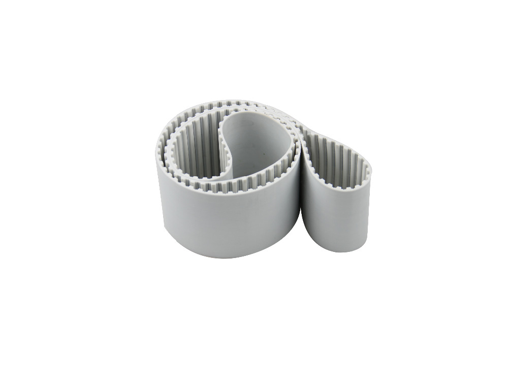 Strong steel core AT5(5mm pitch) connection jointed timing belt/ metal core closed loop belt 15mm width t5 steel core endless timing belt closed loop pu belt