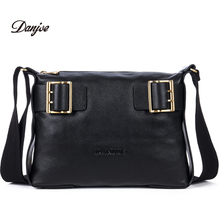 DANJUE men shoulder bag cowhide brand messenger bag business genuine leather briefcase high quality business laptop bag