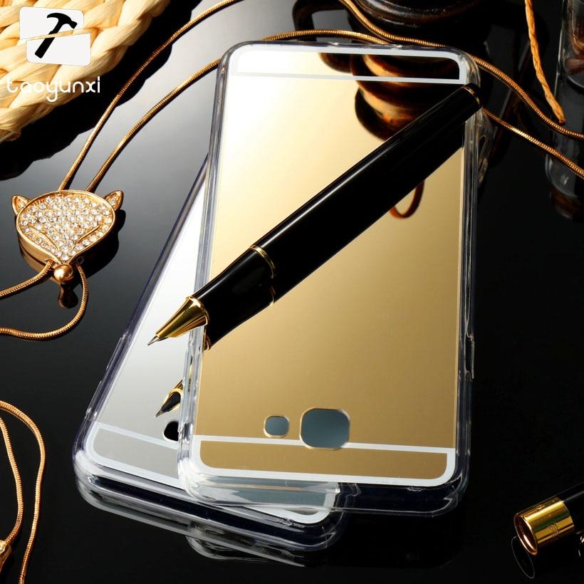 TAOYUNXI Ayna Silikon Telefon Kılıfı Kapak Için Samsung Galaxy J5 J7 Başbakan On5 On7 2016 G570F SM-G570F On Nxt SM-G610F Konut