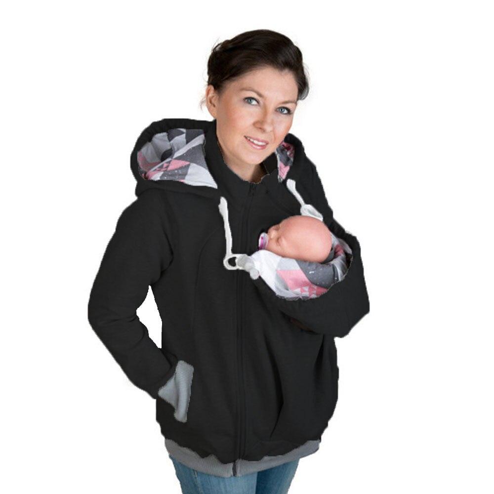 Papa Hiver Kangourou Coton Porte Bébé vestes De Maternité vêtements Papa  Manteau Hoodies Portant Transporter Infantile ... 0e8c2ef368b