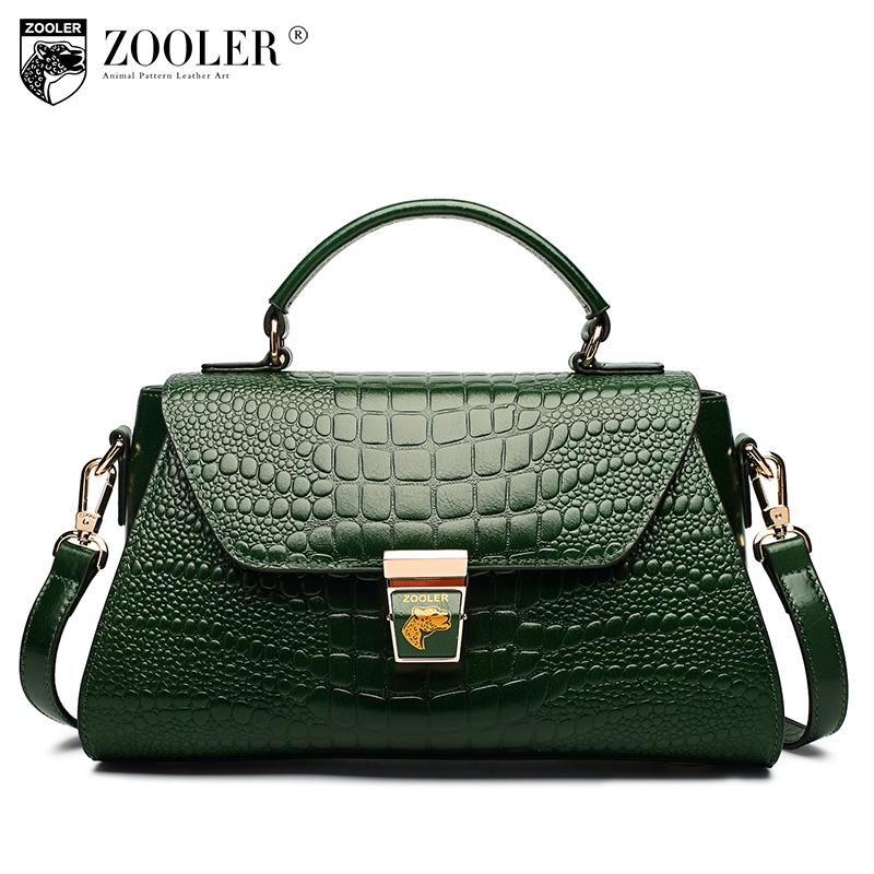 New genuine leather bags handbags women famous brands 2018 European American style ladies bag Pattern shoulder bag ZOOLER C-139 memunia spring autumn fashion high