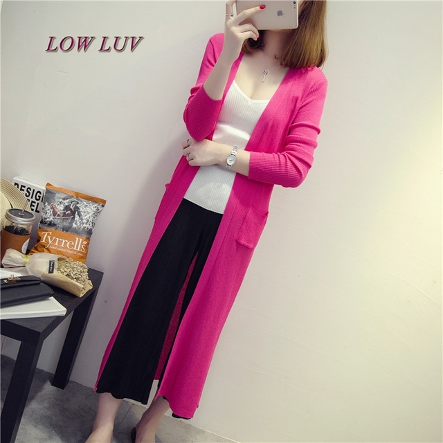 b8881a2e41d Summer thin cardigan sweater female long section of ice silk shawl air- conditioned shirt jacket sun protection clothing