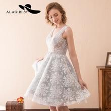 Alagirls 2019 New Arrival Mini Prom Dresses Sexy short lace Homecoming Dress V Neckline Cocktail dresses Vestido de bienvenida