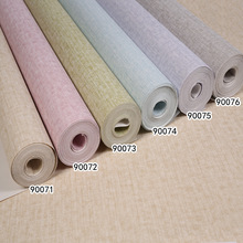 popular model 3d texture non-woven Plain colour Ephedra wallpaper bedroom high-end home decoration