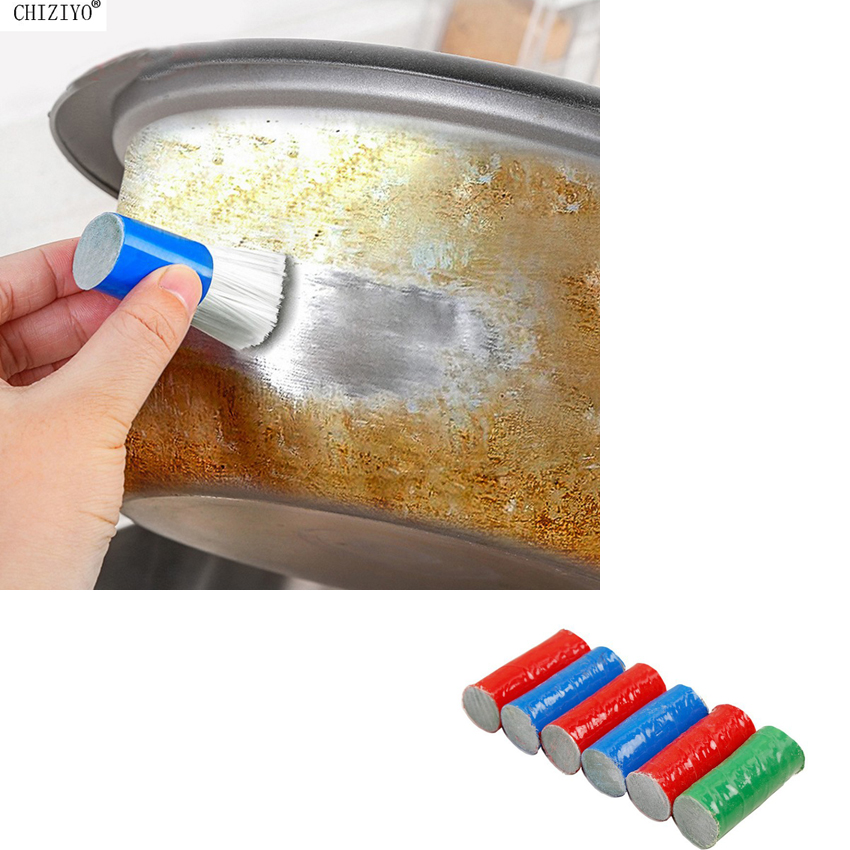 1pc Stainless Steel Rod Magic Stick Rust Remover Cleaning Wash Brush Wipe Pot For Wheel Hub Lron Pot Tableware CHIZIYO