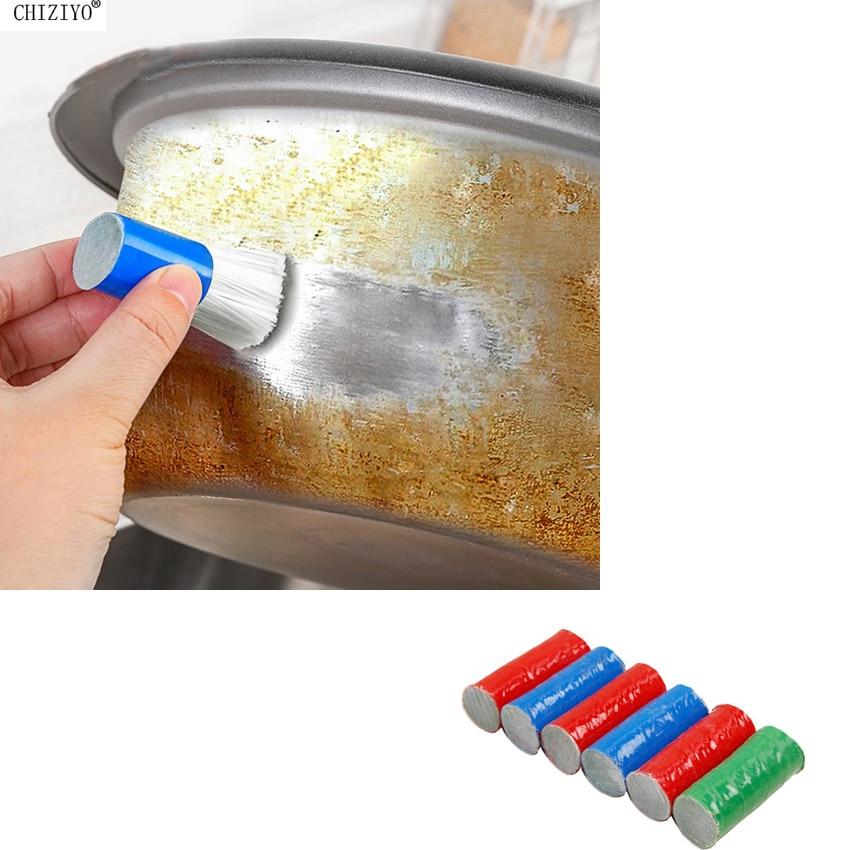 1pc Stainless Steel Rod Magic Stick Rust Remover Cleaning Wash Brush Wipe Pot For Wheel Hub Lron Pot Tableware CHIZIYO